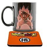 Magie Tassen Dragon Ball Z Farbwechsel Goku Super Saiyan Kaffeebecher Wärme Reaktiver Becher und Untersetzer DBZ (Goku 1)