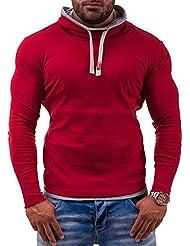 BOLF – Sweatshirts – Col cheminée et cordon de serrage - BOLF 18 – Homme