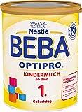 Beba Nestlé BEBA OPTIPRO Kindermilch ab dem 1. Geburtstag, für eine altersgerechte Ernährung, Milchgetränk mit den Vitaminen A, C & D, 1er Pack (1 x 800 g)