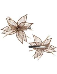 Seeberger Sinamay Blossom Fascinator Haarschmuck Kopfschmuck Hochzeitshut Anlasshut