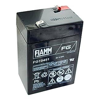 Fiamm FG10451 Lead Acid Battery 6 V 4.5 Ah Faston 4.8 AGM