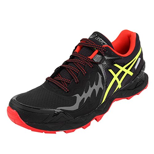 Asics Gel FujiEndurance PlasmaGuard Black Safety Yellow Vermilion Black