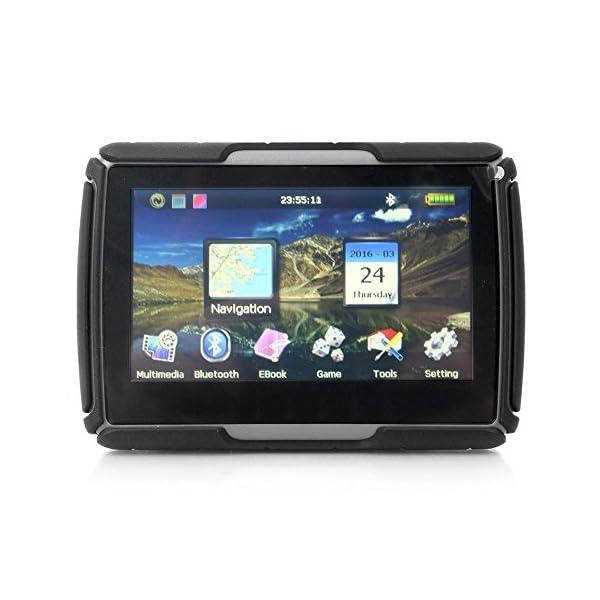 4.3″ Motorcycle SAT NAV Bluetooth Car GPS Navigation Waterproof IPX7 Map 8GB 256M Black 51lv8lPG OL