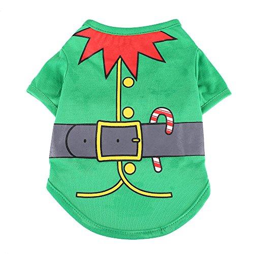 Kostüm Weihnachten Vater Hunde - Aprettysunny Haustier Hund Weihnachten Kleidung Shirt Santa Bone Multicolor Polyester Weihnachten Kostüm