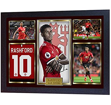 BLACK FRAMED /& MOUNTED Manchester United team squad 2019-2020 Signed poster print framed picture photo autograph gift Paul Pogba David De Gea Marcus Rashford
