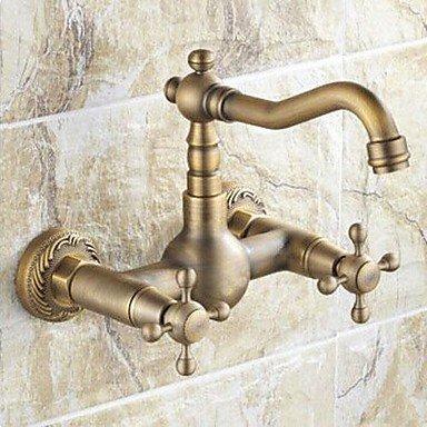 Miaoge antique inspirée robinet de cuisine–Fixation Murale (finition laiton antique
