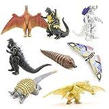 MCDREAM Godzilla King of Monsters Dinosauri Bambola Modello Mini Dinosauri realistici Toy Set per Bambini e Film Fans Decoration (8 Pezzi)