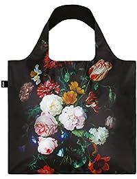 JAN DAVIDSZ de HEEM Still Life with Flowers in a Glass Vase Bag: peso 55 g, tamaño 50 x 42 cm, Zip-case 11 x 11.5 cm, asa 27 cm, resistente al agua, certificado OEKO-TEX , Puede llevar hasta  20 kg