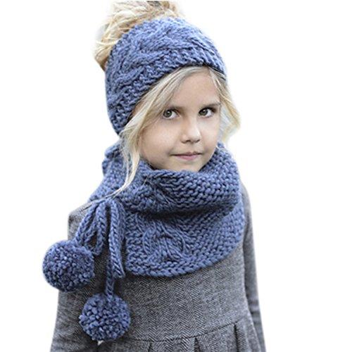 fc8bd146a80 Chic-Chic 2pc Cache-Oreilles + Tour de Cou Hiver Bébé Enfants Cagoule Chaud
