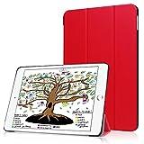 HBorna Hülle für iPad 9.7 Zoll 2018 2017, Smart Cover Case mit [Auto Schlaf/Wach] Dünn Superleicht Schutzhülle Hülle Tasche Standfunktion für New Apple iPad 9,7 2018/2017, Rot