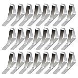 24pcs Tischdeckenklammern Edelstahl Tischklammern Tischtuch Clips Tischdeckenbeschwerer für Tischplatten bis 40 mm