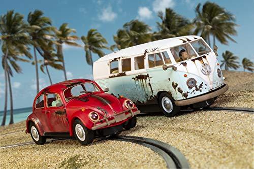 SCALEXTRIC 3966A - 1:32 VW Beetle/Camper Van - W.C. Rat HD, Slot Race, Slot Car, Zubehör (Slot Car Carrera 1 32)