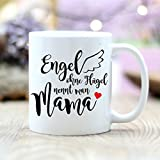 Wandtattoo Loft® Bedruckte Keramiktasse / Muttertag /Engel ohne Flügel nennt man Mama / beidseitig bedruckt / Tasse / Becher / Spülmaschinenfest / Kaffeetasse mit Motiv