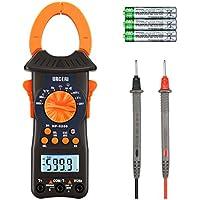 URCERI HP-6205 - Avanzado Pinza Multímetro, 6000 cuentas Digital Clamp Meter Multímetro Automático con la Prueba de Voltaje, Corriente, Resistencia, Frecuencia, Capacitancia y Diodo