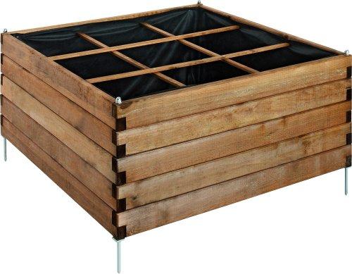 Carré de potager en bois teinté Estragon 90