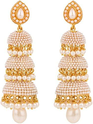 Shining Diva Traditional Pearl Jewellery Stylish Fancy Party Wear Jhumki / Jhumka Earrings for Women / Girls