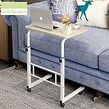 WETERS Sofa Beistelltisch Laptop Schreibtisch Bett Schreibtisch Nacht Etage Fahrstuhl Mobil Schreiben tragbarer faul Tisch,Englishmaple