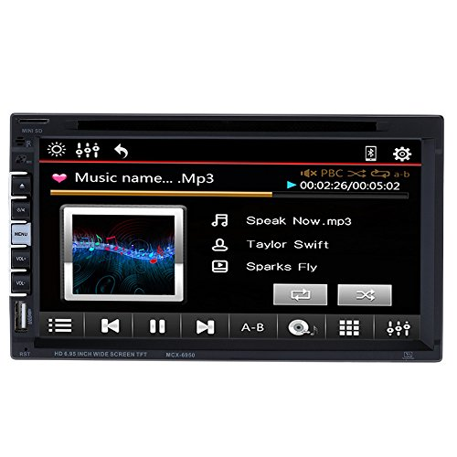 KKmoon MCX-6950 7 Zoll 2 Din Multimedia Autoradio DVD Player mit Moniceiver MP3-Tuner Touchscreen / Bluetooth/MP4/DVD/VCD/CD