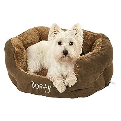 Bunty Polar Dog Pet Bed, Soft Cosy Fleece Fur Warm Cushion Basket, Machine Washable, High Sided, Cat, Small Animal… 5