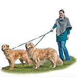 Furhaven Pet Two Tails Walking Double Dog Pet Leash, Lagoon