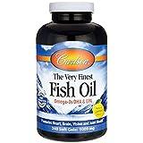 Carlson Labs, der Feinsten Fischöl, Zitronenaroma, 1000 mg, 240 Soft Gels