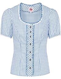 916b18fed50386 Michaelax-Fashion-Trade Spieth & Wensky - Karierte Damen Trachten Bluse mit  Elasthan Einsatz
