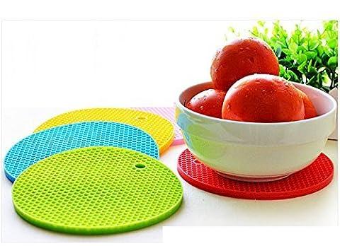 dapenk en silicone Support de pot, Tapis de dessous de plat chaud, de silicone, résistant à la chaleur Dessous de verres
