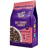 Yogabar Wholegrain Breakfast Muesli - Dark Chocolate + Cranberry, 700g (Super Saver Pack)