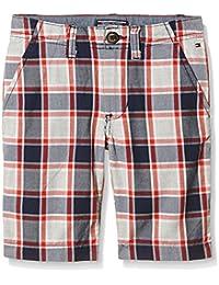 TOMMY HILFIGER KIDS Shorebreak Check Chino Short, Shorts para Niños, Negro, 16