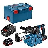 Bosch Professional 0611910004 Bohrhammer GBH 18V-26 F (2X 6,0 Ah Akku, 18 Volt, in L-BOXX), 18 V, blau