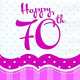 Perfectly Pink ~ 70th Birthday Napkins 18's