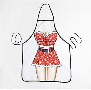 Sexy Xmas mode conception robe tablier de cuisine pour les filles
