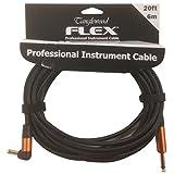 Tanglewood Fx6-a Flex Professional câble d'instrument avec prise Jack coudée–6m