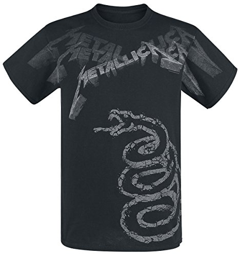 Metallica : Black Album Faded Tee-Shirt Homme Sous Licence Officielle atmosphere