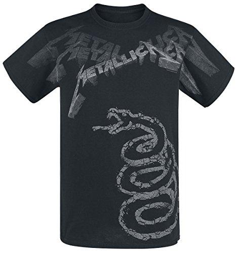 Atmosphere Metallica Black Album Faded T-Shirt black