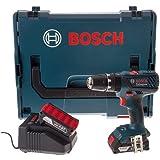 Bosch Professional 06019E7170 Bosch GSB18-2-LI 18V 2 x 2,0 Ah Li-Ion Kompakt-Kombi-Bohrer 180 W, 18 V