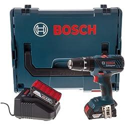 Bosch Professional GSB18-2-LI PLUS Perceuse visseuse à percussion 2 x 18 V 2 Ah (version et prise FR)