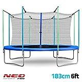 Bahçe 183cm (6ft)–2in1Trambolin güvenlik ağı ile ağ 1,83m Neo-Sport Pro