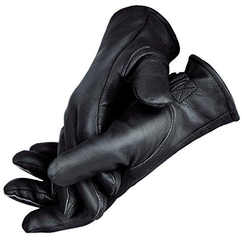 BW Handschuhe für Damen und Herren Lederhandschuhe gefüttert BlackSnake® - M - Schwarz