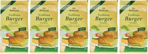 Alnatura Bio Vollkorn-Burger Gemüse, 5er Pack (5 x 210 g) - 2