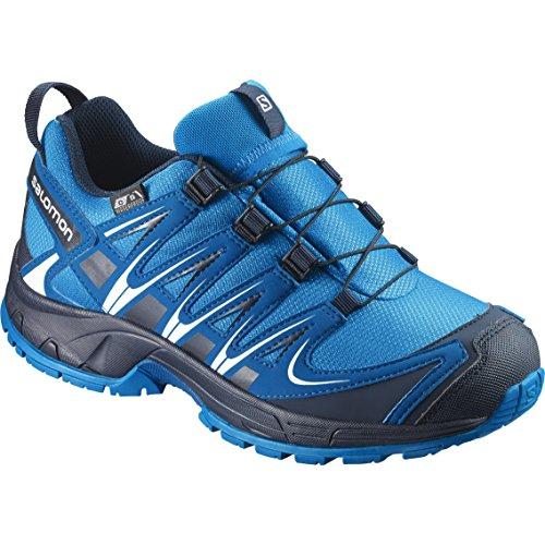 Salomon XA Pro 3D CSWP J, Zapatillas de Trail Running Unisex Niños, Multicolor (Hawaiian Surf/Mykonos Blue/Navy Bla 000), 27 EU