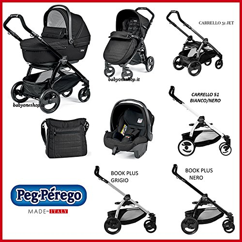 Kombikinderwagen [babyschale+kinderwagen+sportwagen] Book 51 Jet Pop Up Peg Perego Mod black ...