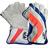 #8: SG RSD Xtreme Wicket Keeping Gloves Size Youth (White/Blue/Orange)