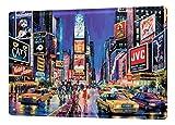 Cartel Letrero de Chapa XXL Agencia De Viajes Vacaciones Nueva York Broadway Musical