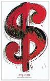 Artopweb Pannelli Decorativi Warhol Dollar Sign 1981 Quadro, Legno, Multicolore, 60x1.8x90 cm