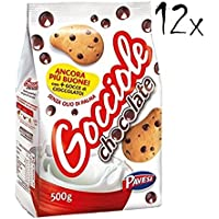 12x Pavesi Gocciole Italian Biscuits Cookies 500g