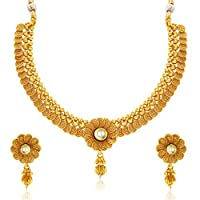 Sukkhi Eye-Catchy Jalebi Design Gold Plated Necklace Set For Women