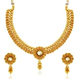 #3: Sukkhi Eye-Catchy Jalebi Design Gold Plated Necklace Set For Women