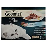 Purina Gourmet Perle Mixed Variety Seaside Duo Adult Wet Cat Food 1020 g (Pack of 12)