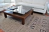 Design Couchtisch V-570H Nussbaum/Walnuss getöntes Glas Carl Svensson